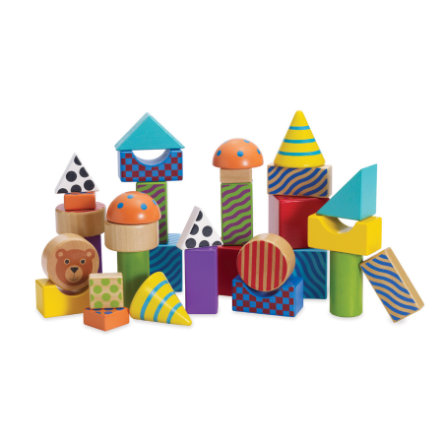 MANHATTAN TOY Baby - Create and Play Pattern Building Blocks