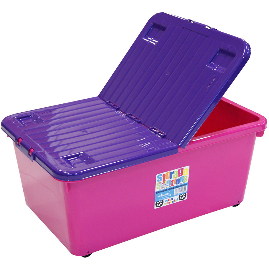 WHAM Rollbox 45L mit Klappdeckel, Pink/Purple