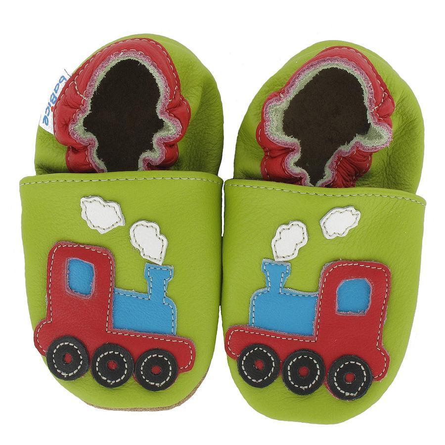 BaBice Chaussons bébé train vert