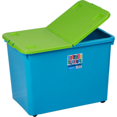 WHAM Rollbox 80L mit Klappdeckel, Blueberry/Lime