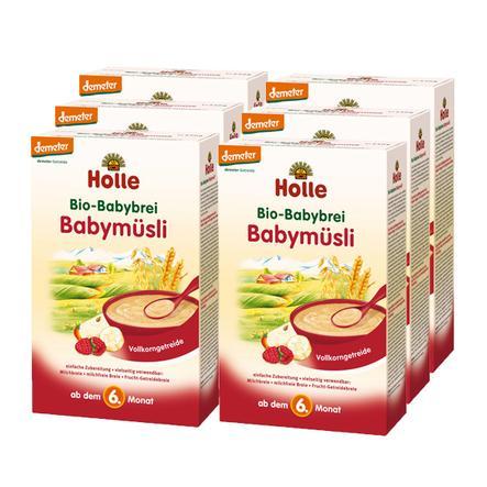 HOLLE Bio Baby Mash Baby Muesli 6x250g