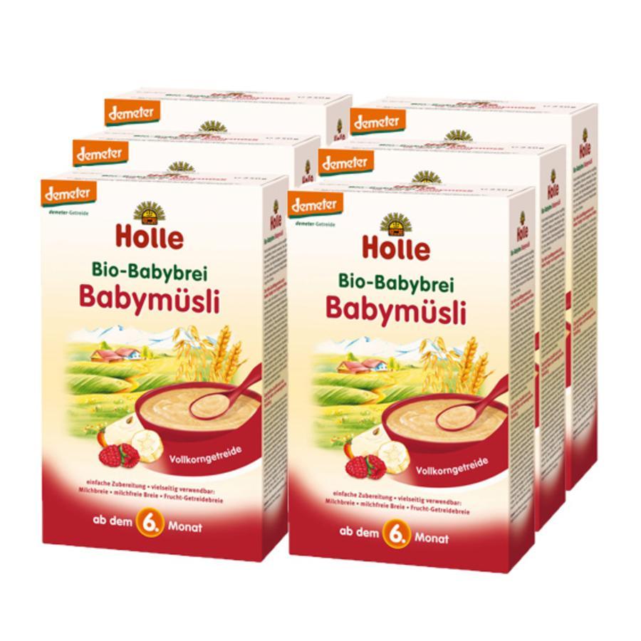 Holle Bio Babybrei Babymüsli 6 x 250g