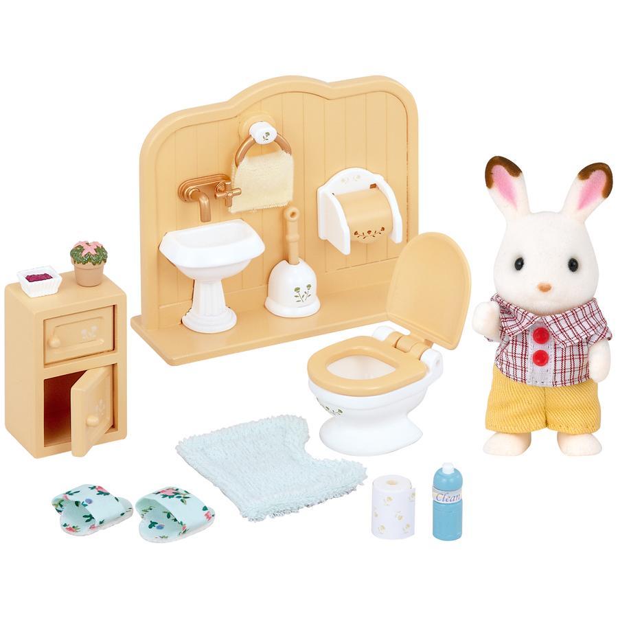 Sylvanian Families® Figurine frère lapin chocolat toilettes 5015