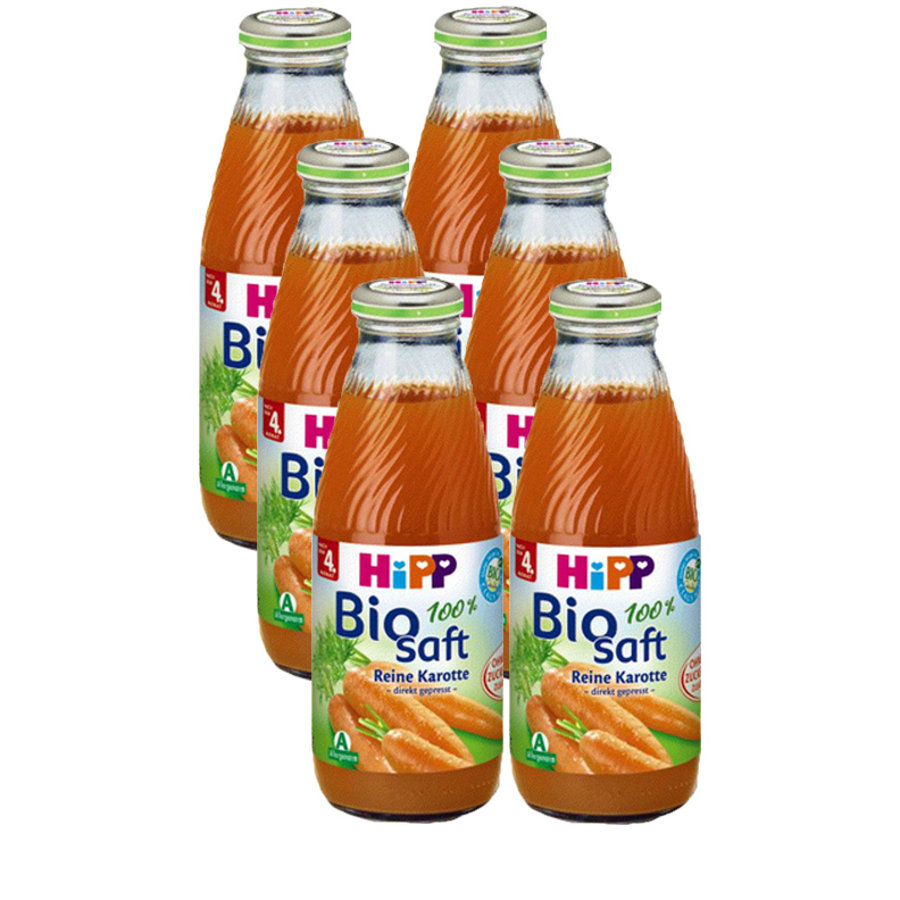 HIPP Bio Juice Pure Carrot 6 x 500ml