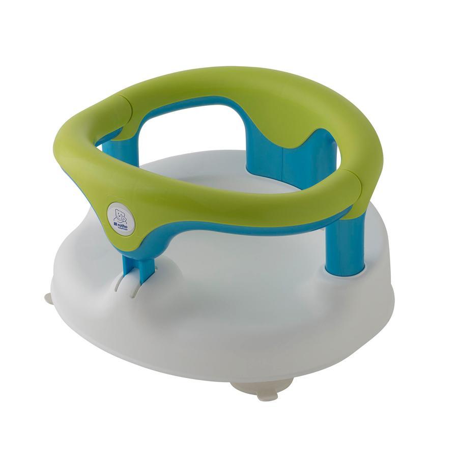 ROTHO Siège de bain, blanc/vert pomme/aigue-marine nacré