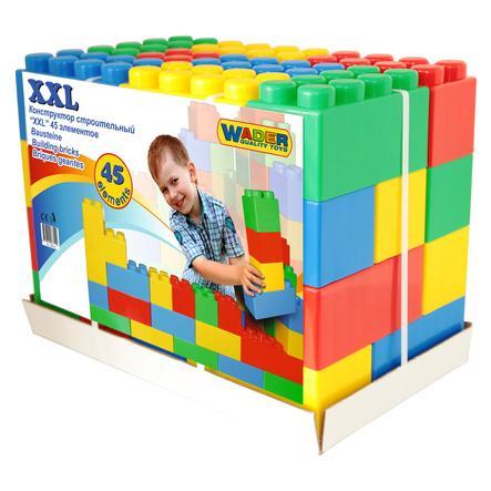 WADER QUALITY TOYS Briques de jeu géantes XXL, 45 pièces 37510