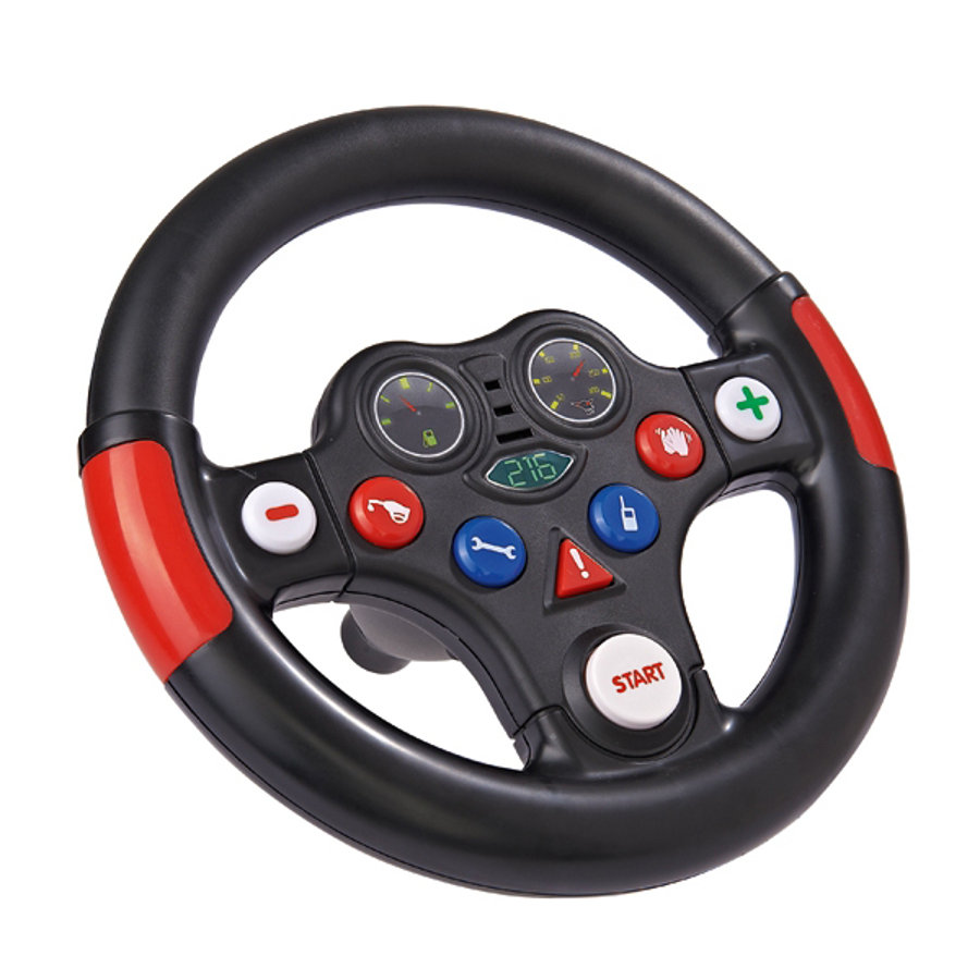 BIG Bobby Car kierownica Racing-Sound-Wheel