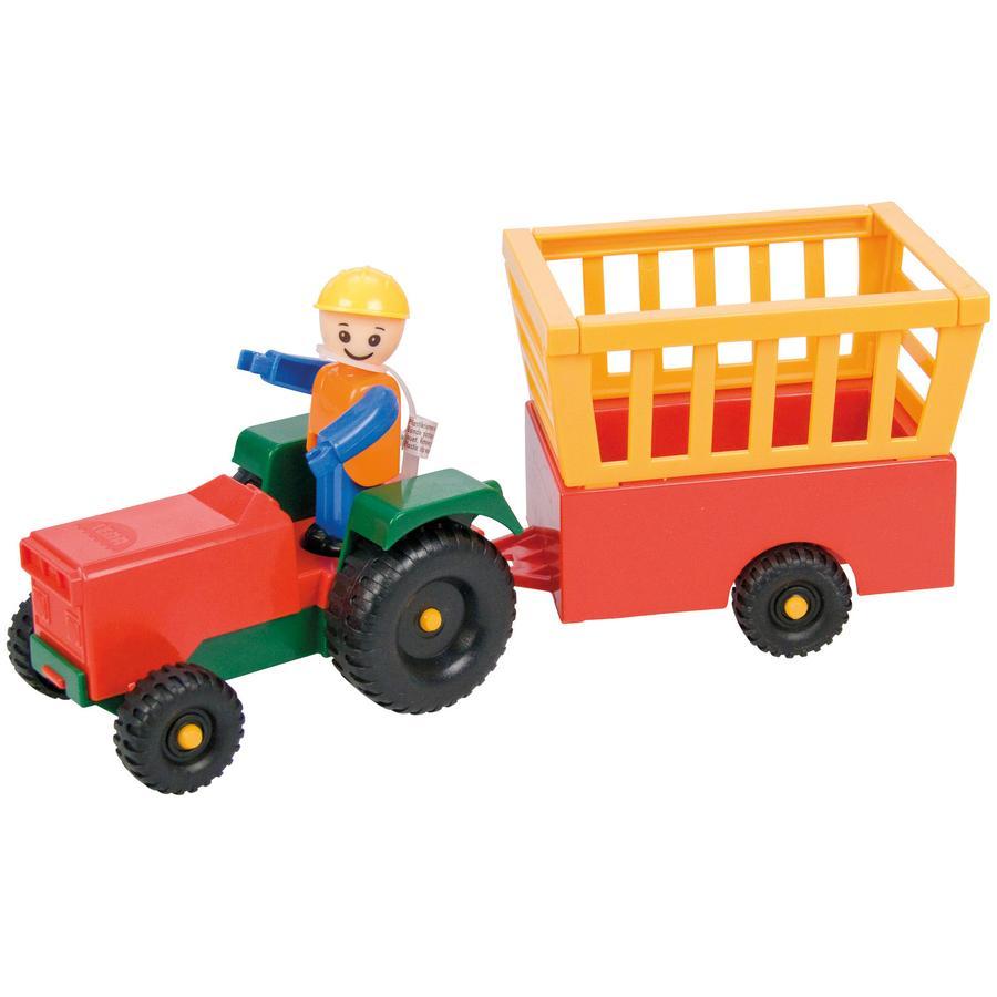 LENA Kleiner Robuster Traktor mit Hänger
