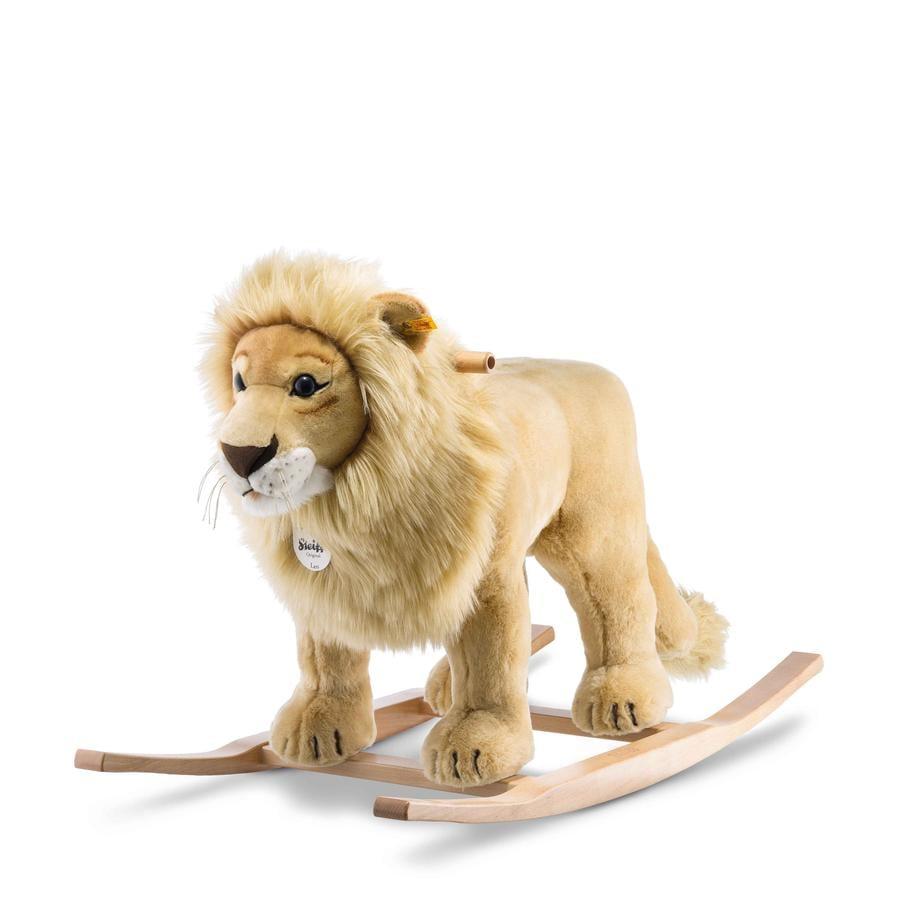 Steiff Animal à bascule lion Leo blond doré 70 cm