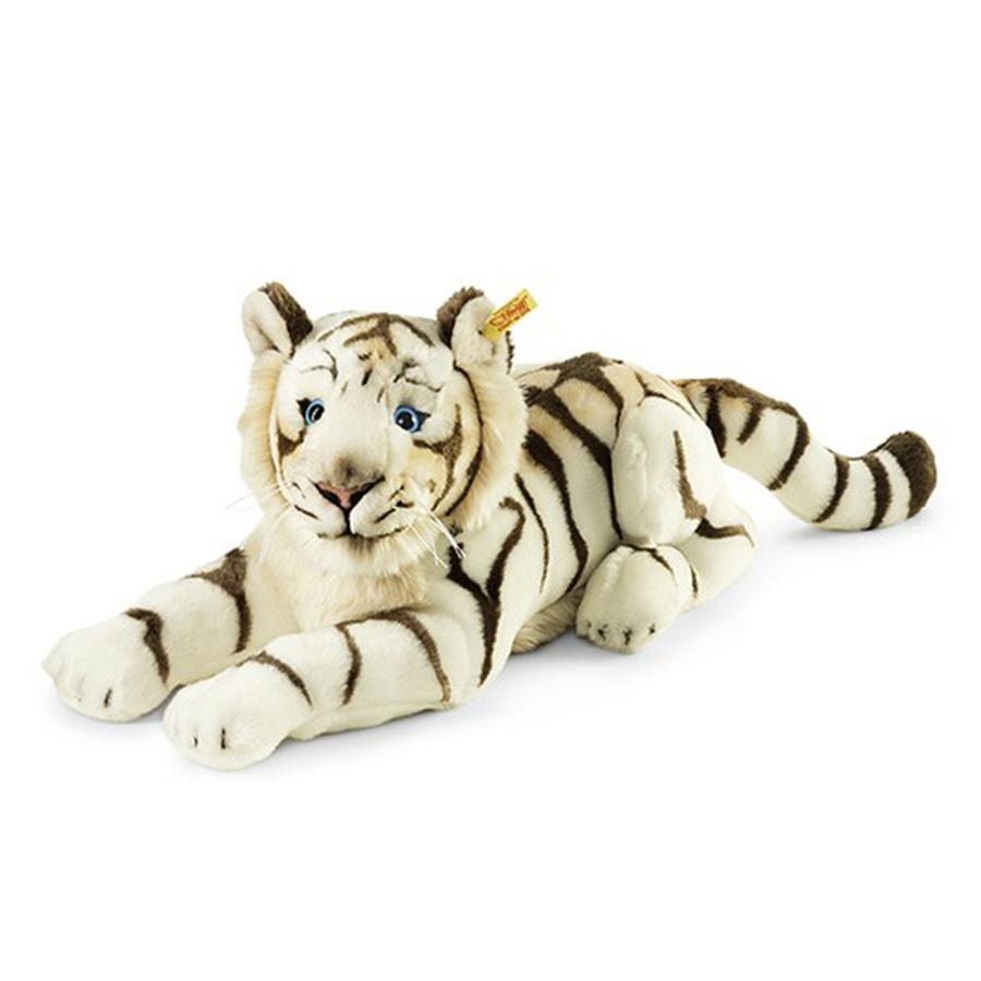 STEIFF Bharat, den vita tigern 43 cm, liggande