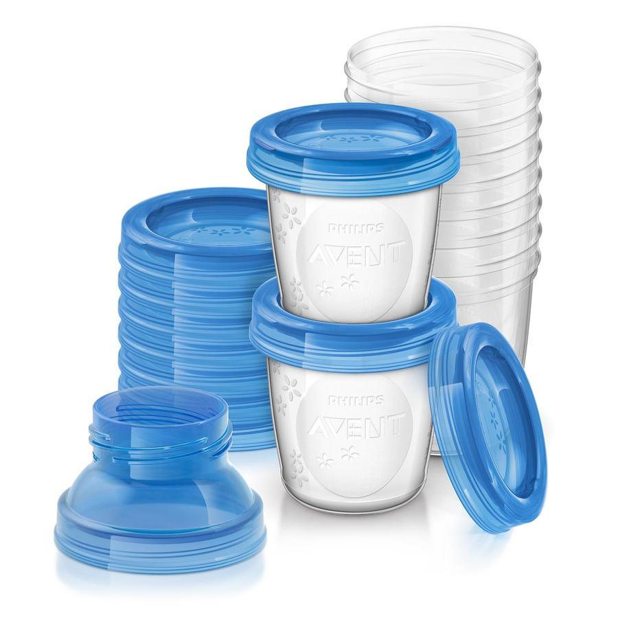 Philips AVENT SCF618/10 Förvaringsmuggar för bröstmjölk, 10x 180ml