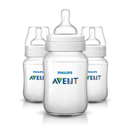 Philips AVENT SCF563/37 Babyfles Anti-Koliek Classic 260ml, 1m+, 3pack