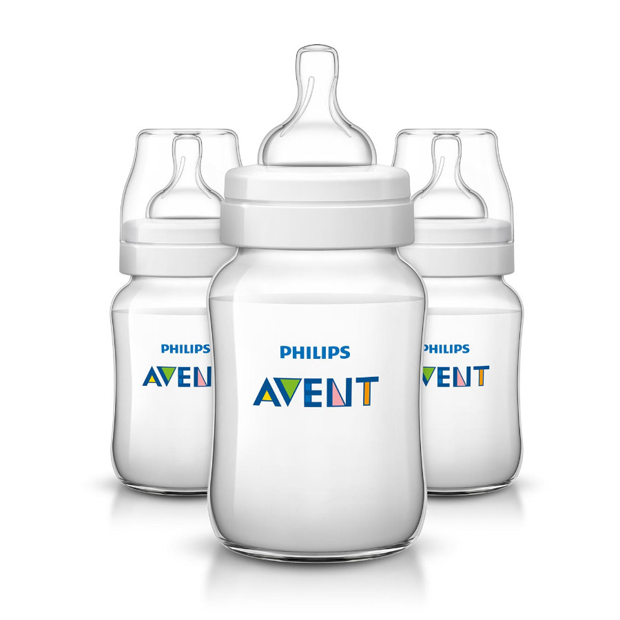 Philips AVENT SCF563/37 Nappflaska Classic 260ml, 3-pack