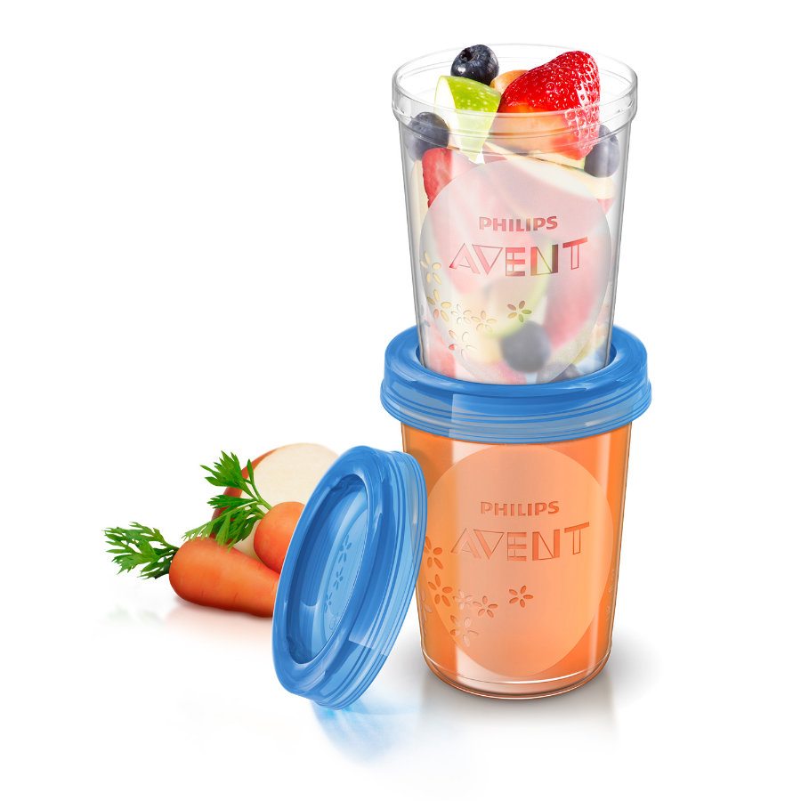 AVENT Food Storage Cups, 5x 240ml