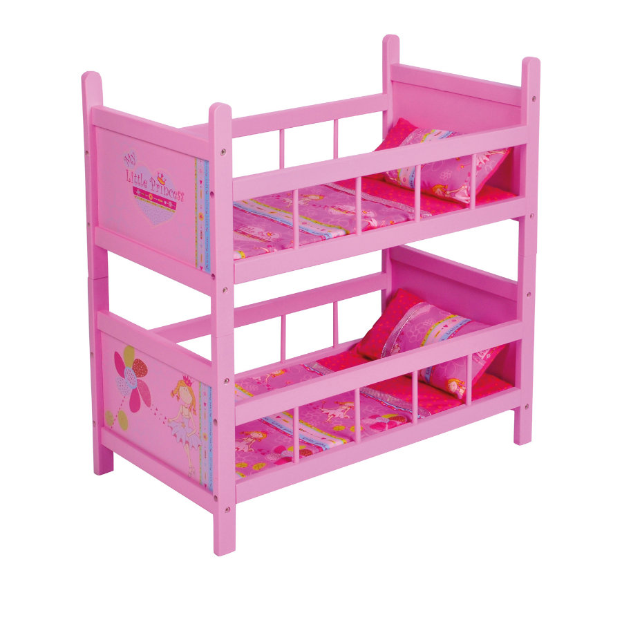 KNORRTOYS Letto a castello bambole My little Princess, pink