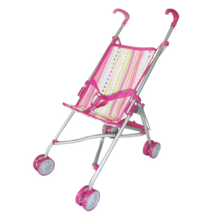 KNORRYTOYS Poppenbuggy Sim - pink with stripe