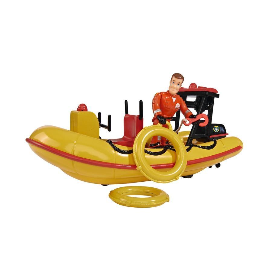 SIMBA Brandweerman Sam - Sam Neptune, boot met figuur