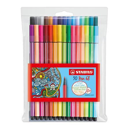 STABILO Pen 68 neon stiften Etui 24+6 stuks