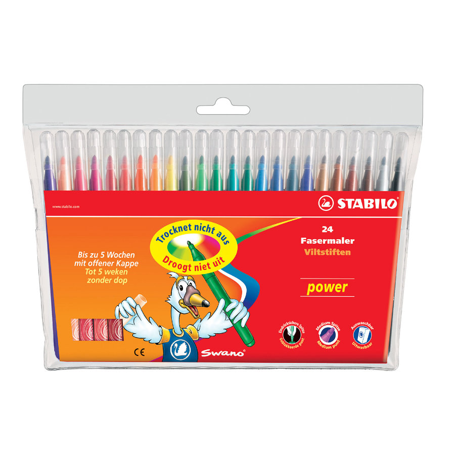STABILO power 24-pack Filtpennor
