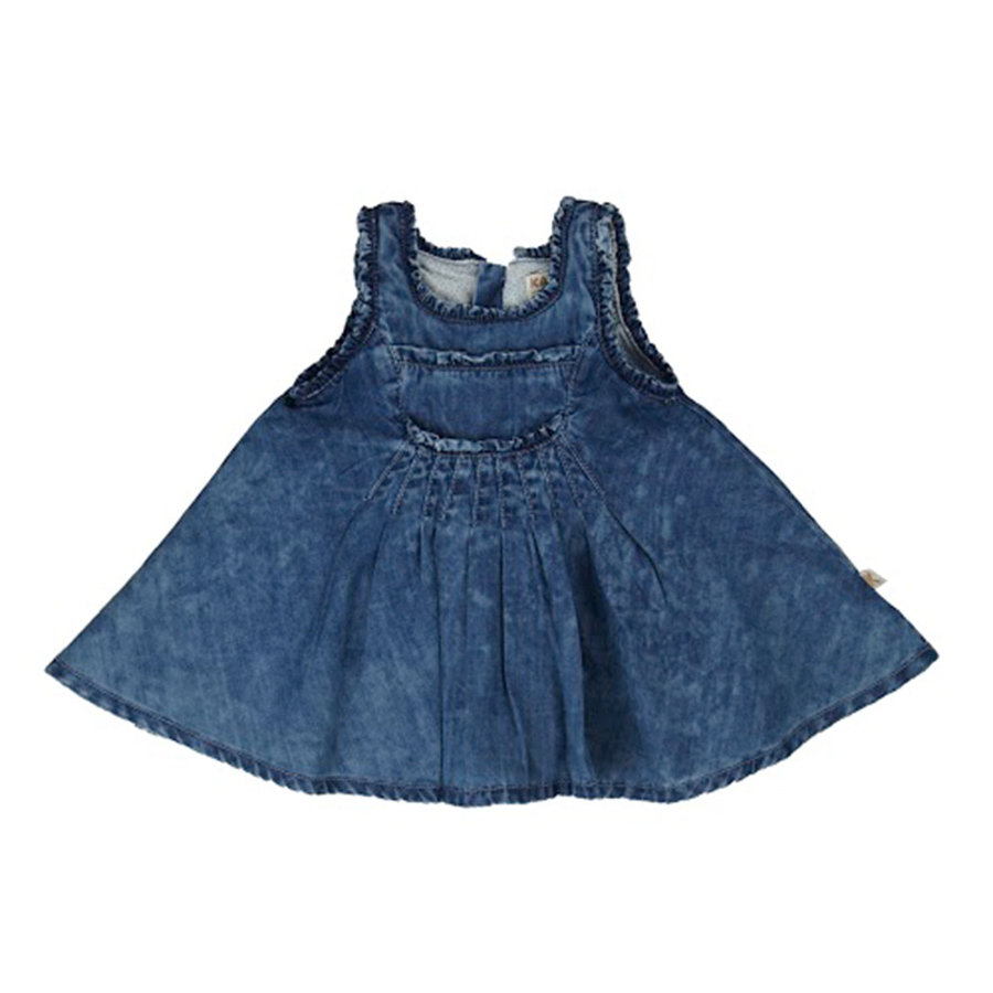 KANZ Girls Mini Džínsové šaty blue denim  62e11e186d
