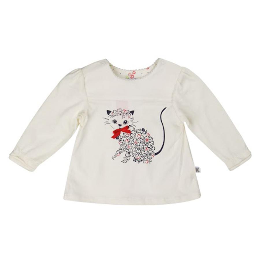 KANZ Girls Mini Tričko s dlouhým rukávem, snow white