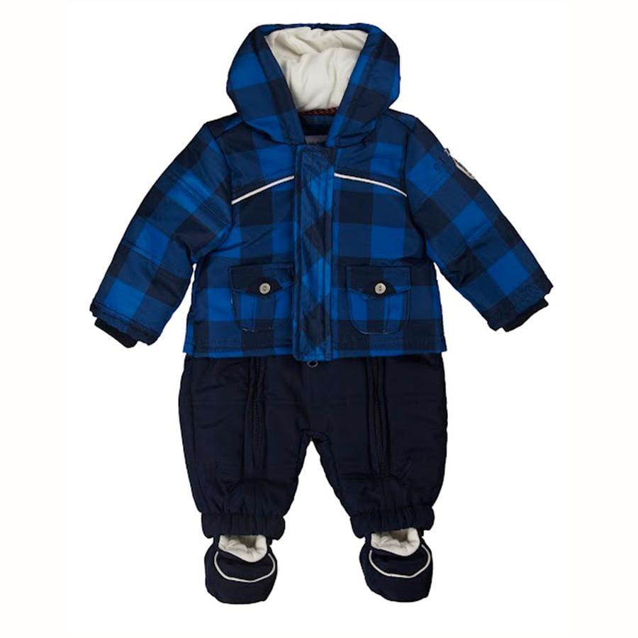 KANZ Boys Costume de neige pour bébé bleu à carreaux