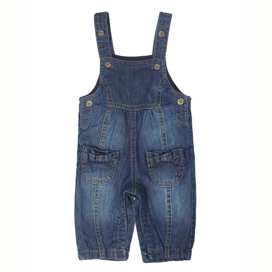 STEIFF Girls Baby Overalls dark blue denim