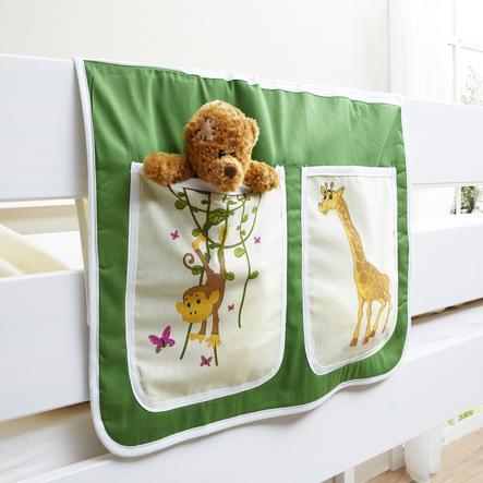 TiCAA Bedtas voor hoogslapers en stapelbedden, Safari groen-beige