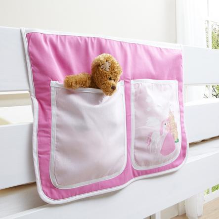 TICAA Bedtas voor hoogslaper en stapelbedden, Paard roze