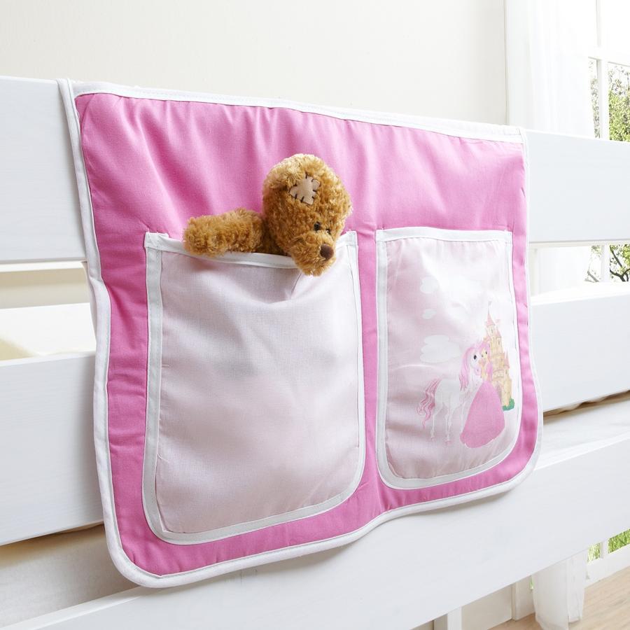 TiCAA Bett-Tasche für Hoch- und Etagenbetten Horse (Pink)