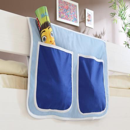 TICAA Poche de lit pour lit surélevés et superposés bleu clair - bleu foncé