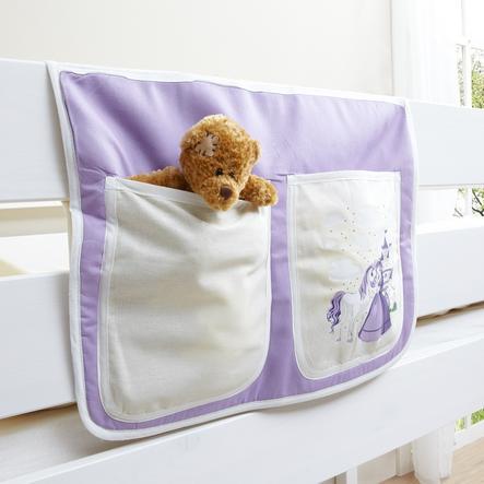 TICAA Tasca porta oggetti per letto rialzato o letto a castello- Cavallo (lilla)