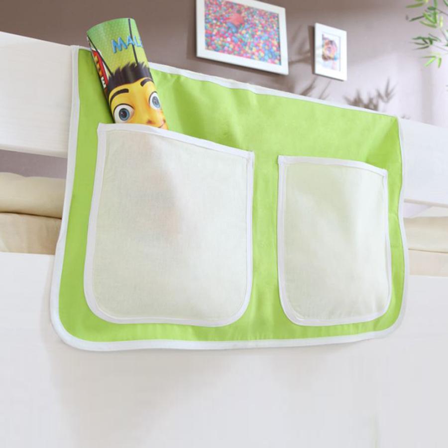 TICAA Tasche porta oggetti per letto a rialzo e a castello - Pirati - Beige/Verde
