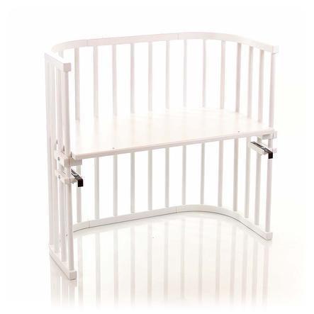 TOBI Babybay origineel bed beukenhout massief wit gelakt