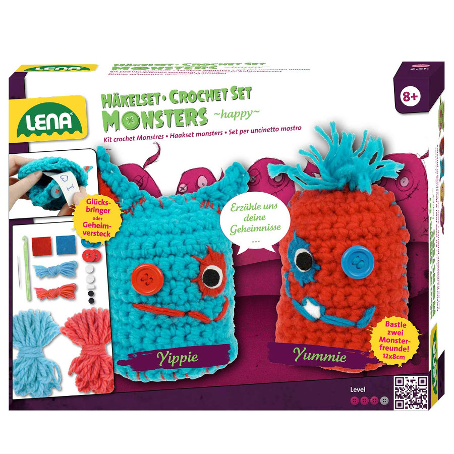 "LENA Kit crochets Monstres ""happy"" 42522"