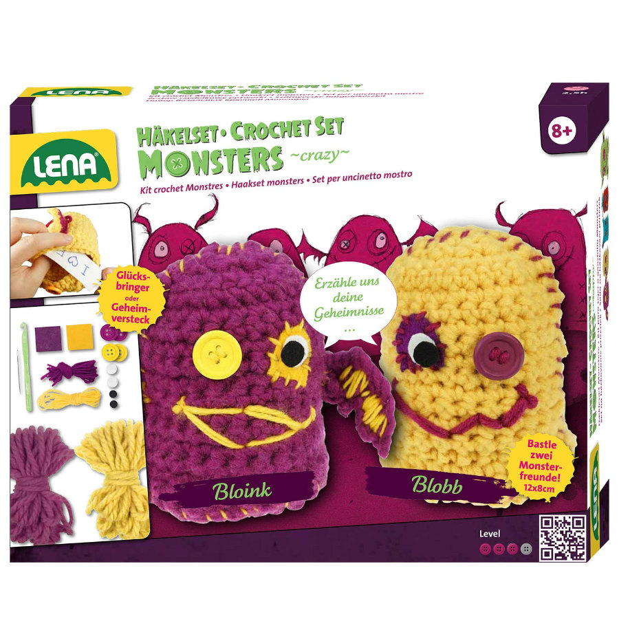 "LENA® Häkelset Die Monsters ""crazy"", 42523"