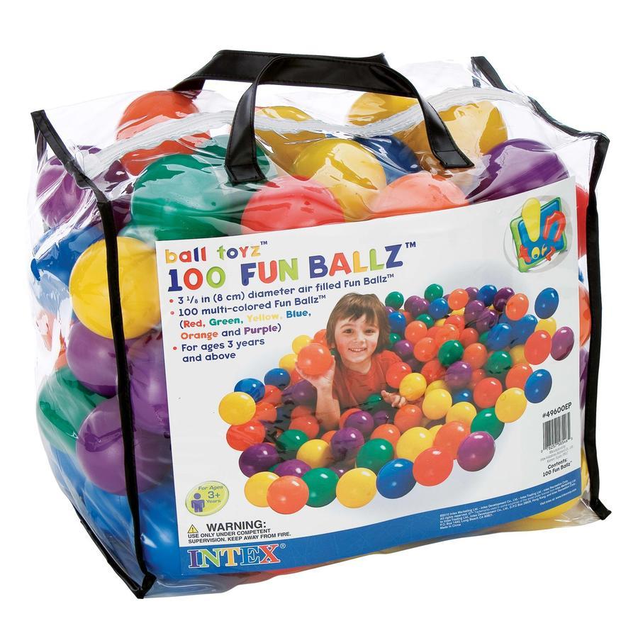 INTEX 100 balles de jeu colorés