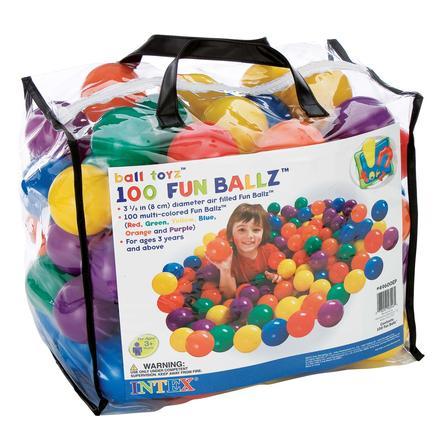INTEX 100 värikästä palloa
