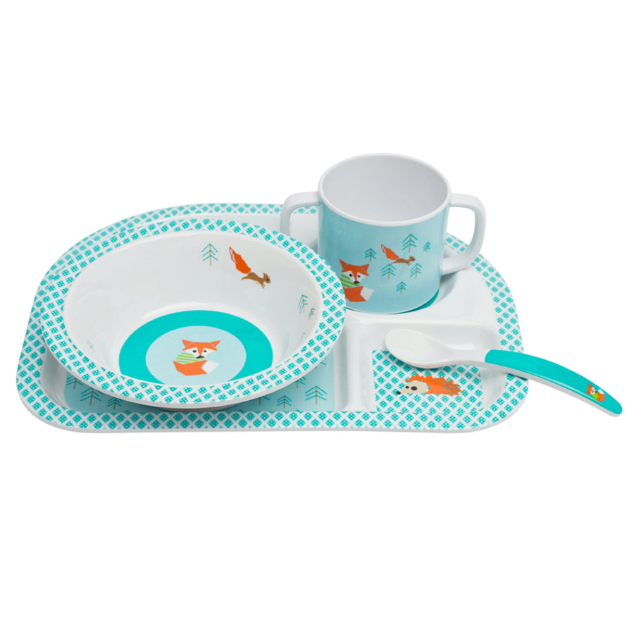 LÄSSIG Melamine Eet-set Little Tree Fox 4-delig