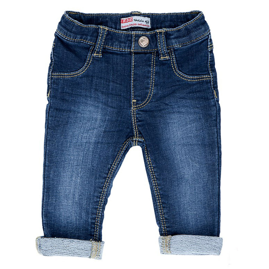 FEETJE Girls Mini Pantalon de jogging, denim bleu délavé