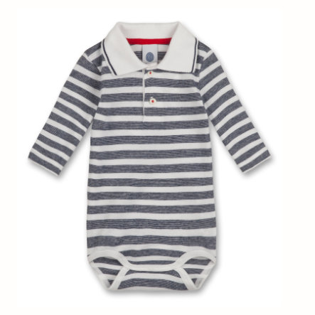 SANETTA Boys Baby Body 1/1 Arm Ringel grey