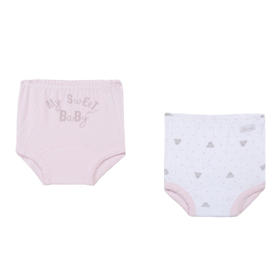 ABSORBA Girls Pantalon bébé, rosé, lot de 2