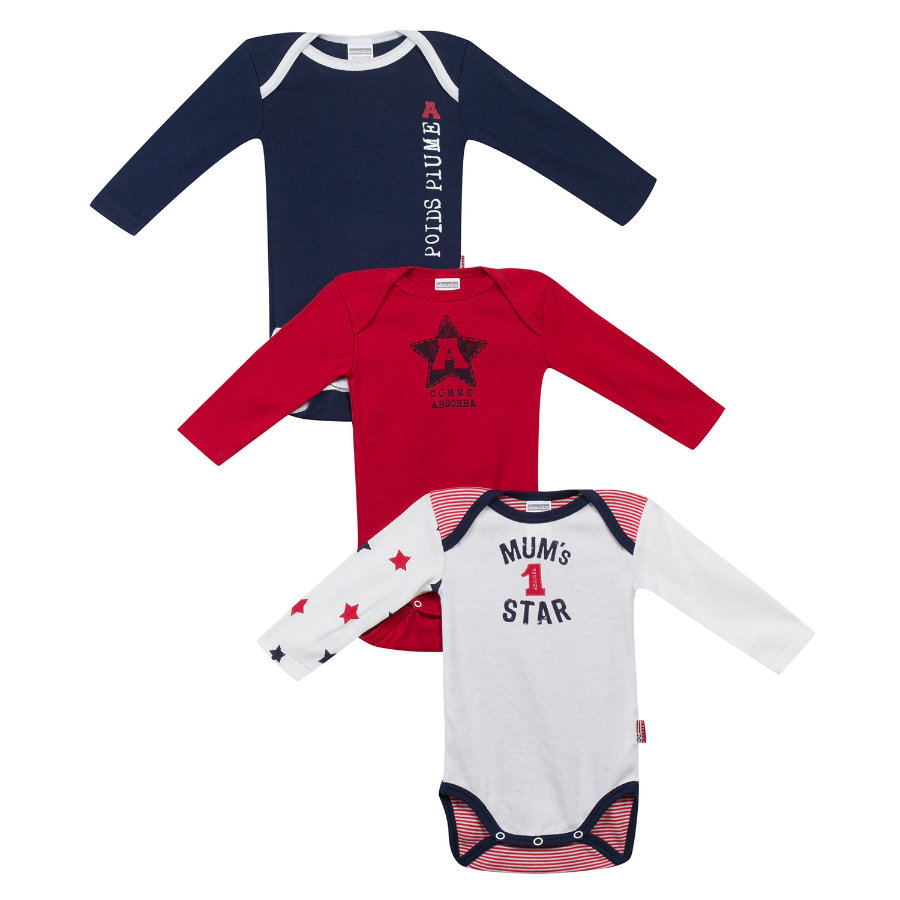 ABSORBA Boys Bodies bébé, manches 1/1, lot de 3