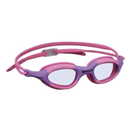 BECO Kinder- und Jugendschwimmbrille BIARRITZ für Kinder und Jugendliche, pink/lila
