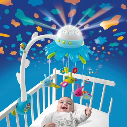 SMOBY Cotoons - Květinový kolotoč s projektorem, modrý