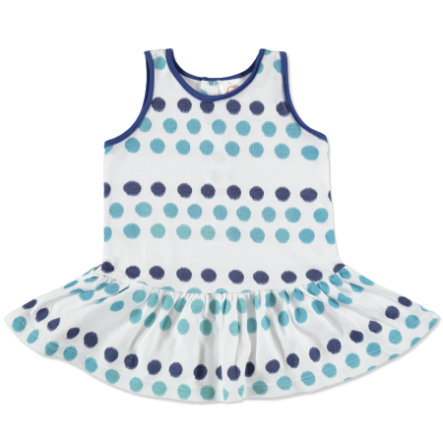 anna & tom Mini Girls Robe, bleu, points