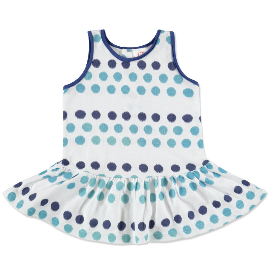 anna & tom Mini Girls Kleid gepunktet blau