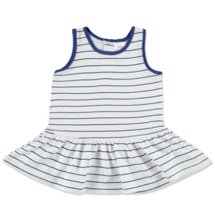 anna & tom Mini Girls Robe, bleu, rayures