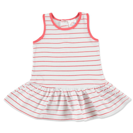 anna & tom Mini Girls Robe, blanc/rose, rayures