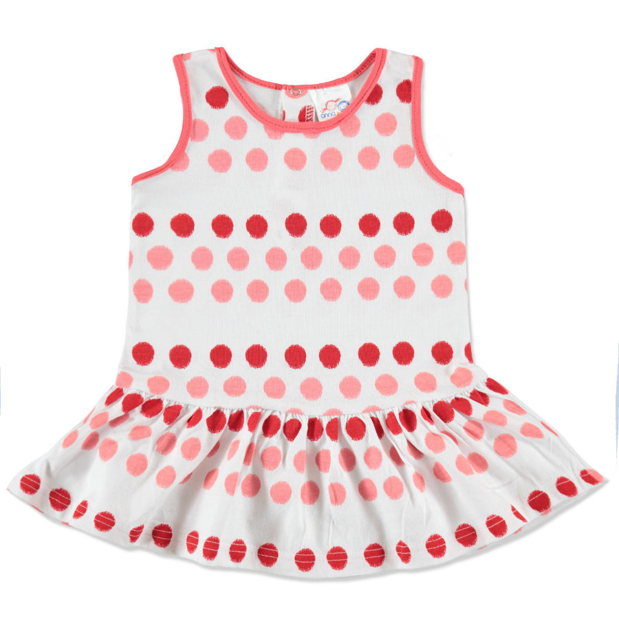 anna & tom Mini Girls Kleid gepunktet rosa